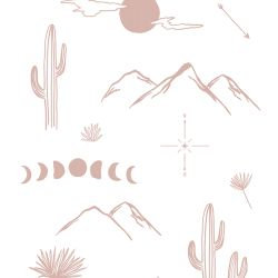 Anna Cosma Desert Dreams Linen Tea Towel