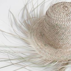 Bohemia Design Fringed Palm Leaf Hat