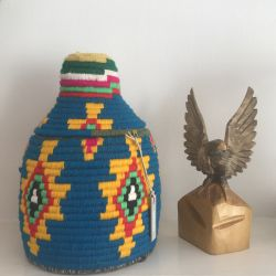Bohemia Design Vintage Wool Moroccan Storage Pot
