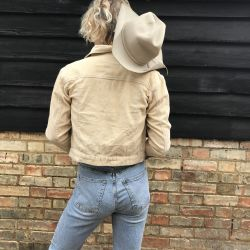 Classic Vintage 1990s Sand Western Slim Cord Jacket