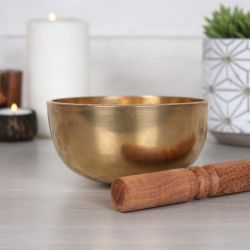 Contemporary Style Brass Singing Bowl