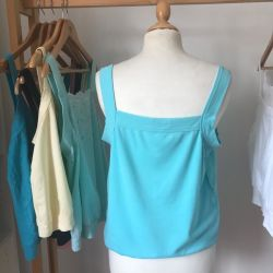 Dolly Vest in Aqua Green