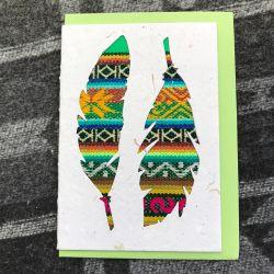 Fairtrade South American Feather Card