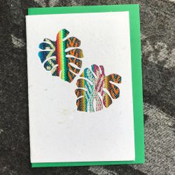 Fairtrade South American Monstera Leaf Card