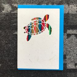 Fairtrade South American Turtle Card