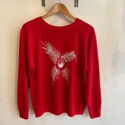 Jolly Brown Own Shell Front Crew Red Sz M