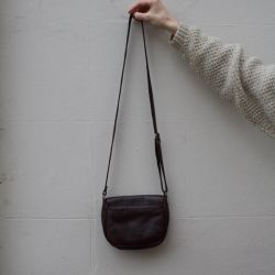 JB Vintage 80s Brown Leather Handbag