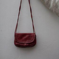 JB Vintage 80s Burgundy Leather Handbag