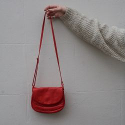 JB Vintage 80s Red Leather Handbag