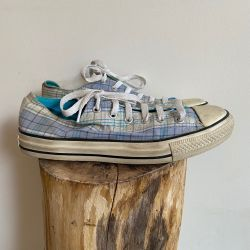 Jolly Brown Converse Blue Check Size 8