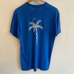 Jolly Brown Own Blue Palm Tee Sz M
