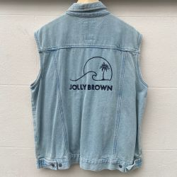 Jolly Brown Own Embroidered Denim Waistcoat