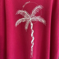 Jolly Brown Own Palm Front Crew Pink Sz L