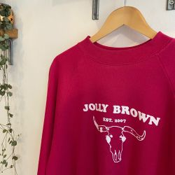 Jolly Brown Own Pink Buffalo Crew Sz L