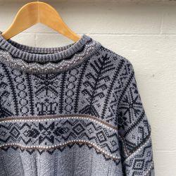 Jolly Brown Vintage 1980s Scandi Style Knit