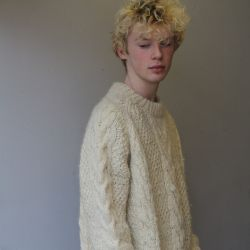 Jolly Brown Vintage 1980s Super Chunky Cable Knit
