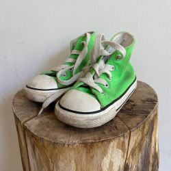 Jolly Brown Vintage Baby Converse Green Size 6