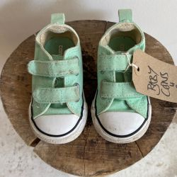 Jolly Brown Vintage Baby Converse Mint Green Size 4