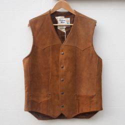 Jolly Brown Vintage Brown 1970s Sheepskin Vest