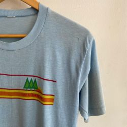 Jolly Brown Vintage Camp Attakapas Tee Sz S