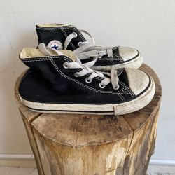 Jolly Brown Vintage Kids Converse Black Size 9