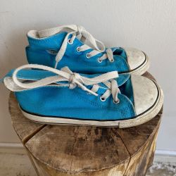 Jolly Brown Vintage Kids Converse Blue Size 10
