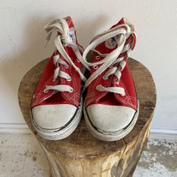 Jolly Brown Vintage Kids Converse Red Size 9