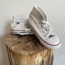 Jolly Brown Vintage Kids Converse White Size 10