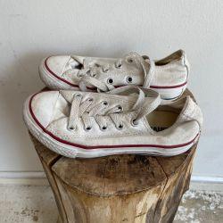 Jolly Brown Vintage Kids Converse White Size 11