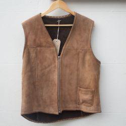 Jolly Brown Vintage 1970s Sheepskin Waistcoat