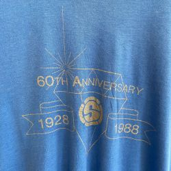 Jolly Brown Vintage US Superfine 60th Anni. Tee Sz L