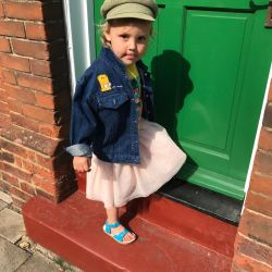 Jolly Little Folk Bart Simpson Denim Jacket Age 4-5