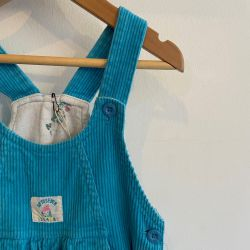 Jolly Little Folk Blue Cord Dungarees Age 3-4