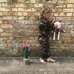 Jolly Little Folk Camo Play-Suit Overalls