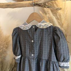 Jolly Little Folk Dark Silver Party Dress age 3