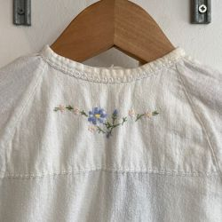 Jolly Little Folk Embroidered Christening Dress
