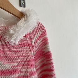 Jolly Little Folk Fur Trim Zip Knit Age 3-4