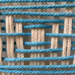 Knot Today Thanks Large Blue Macrame Hoop