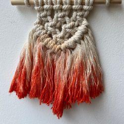 Knot Today Thanks Mini 'Sunset' Dip Dye Hanger