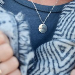 Catch the Sunrise Lunar Necklace in Sterling Silver
