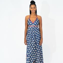 SAILAWAY Dress CO. Goddess Dress 'Carmella Deep Blue'