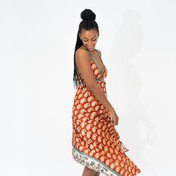 SAILAWAY Dress CO. Goddess Dress 'Carmella Burnt Orange'