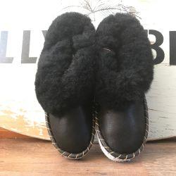 Sheepers Sheepskin Slipper Boots Classic Black