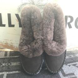 Sheepers Sheepskin Slipper Boots Grey