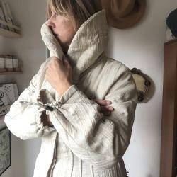 Vintage Italian Silk & Wool Maxi Snug Coat