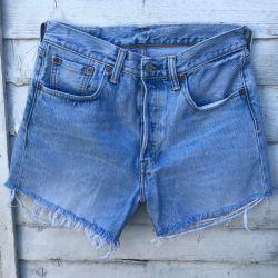 Vintage Levi 501 Cut Off Shorts Waist 29