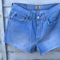 Vintage Levi 501 Cut Off Shorts Waist 32