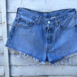Custom Vintage Levi 501 Cut Off Shorts Waist 33