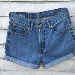 Vintage Levi 516 Turned Up Shorts Waist 30