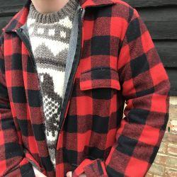 Vintage Red & Black Check Swanndri Bush Jacket